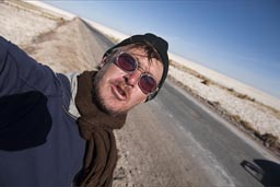 Is me, before driving road onto Atacama Salare.