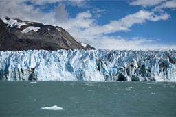 The glacier and drift ice.
