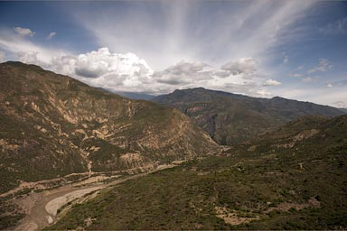 The Andes Oriental in Colombia, looking east.