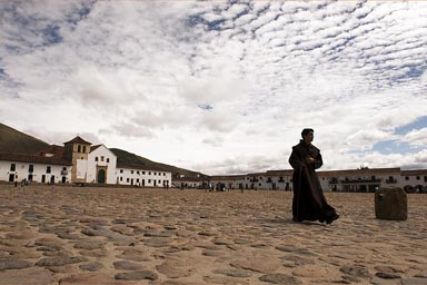 Priest Villa de Leyva, Colombia.