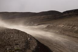 Windy, dusty ascent on Cotopaxi.