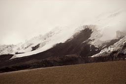Cotopaxi, glacier is near, receding.