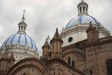 Cuenca Immaculate assumption cathedral. Ecuador.