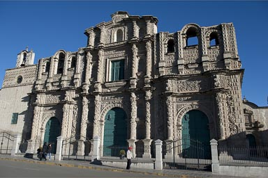 Cajamarca cathedral, early morning.