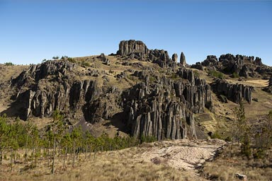 Late afternoon, Cumbe Mayo, rock formations, Cajamarca, Peru.