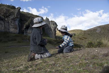Wilderness of Cumbe Mayo, my boys attemt a fire, Cajamarca, Peru. 3600m.