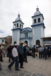 Plaza de armas, Celendine, Conga mine project protested by Indigenas.
