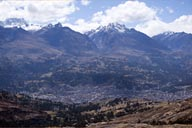Rio Santa Valley, behind Huaraz is Cordillera Blanca, Peru.