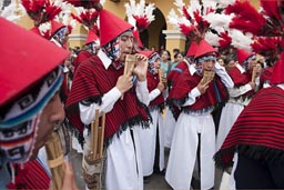 Independence Day flutes in Lima, Peru.