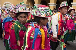 Colorful, Independence Day celebrations in Peru.