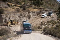 Scandalous road conditions in Colca Canyon.