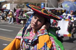 Andino woman and Andino dress, Arequipa Day, Peru.