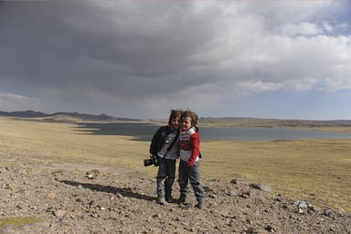 A lake on Peruvian altiplano.