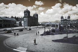 Cusco, plaza de armas with la catedral and la compania, Peru.