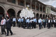 In ayacucho, Monday morning a religous procession by police from church to church.